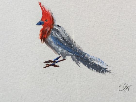 Christine Fichtner acrylic bird