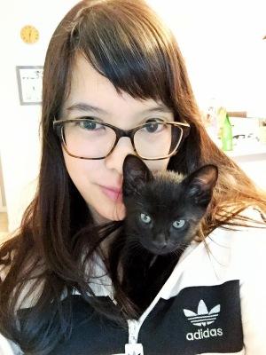 Christine Fichtner kitten on my shoulder