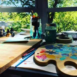 christine fichtner painting palette